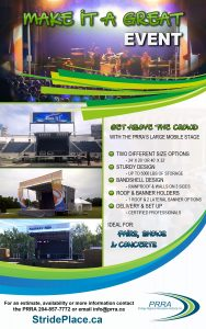 prra large stage picture ad and information