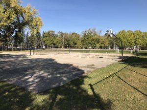 crescentview school basketball and tennis court