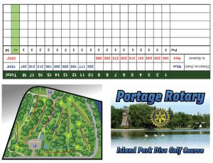 portage rotary disc golf course printable score sheet