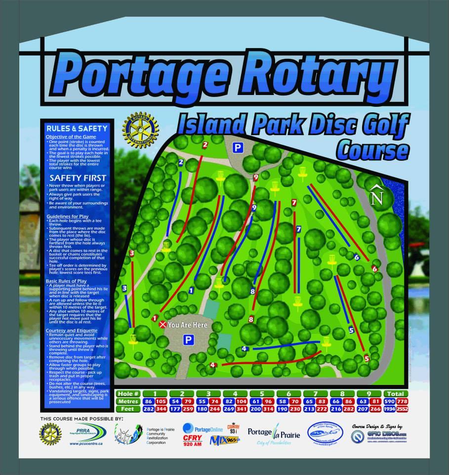 portage disc golf map