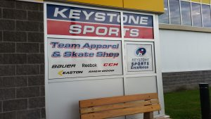 keystone sports loacted in stride place - window picture