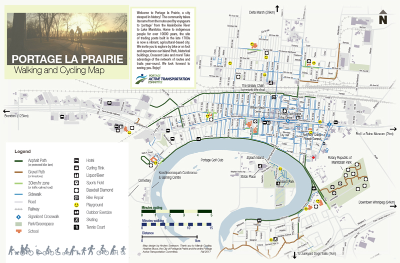 portage cycling trails map