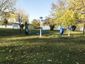 public outside exercise equipment on crescent road