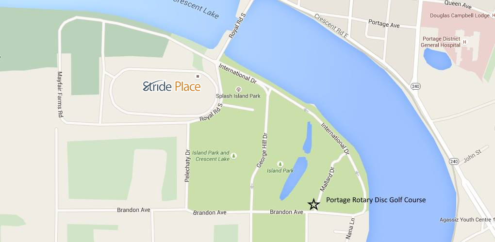 map to the portage rotary disc golf course