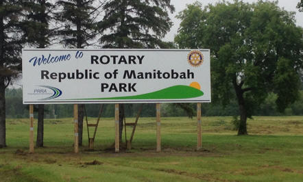 rotary republic of manitoba park sign picture