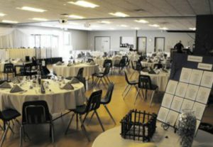 Portage Rotary Multi-Purpose room set up for a wedding