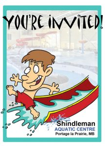Shindleman Aquatic Centre printable party invitation