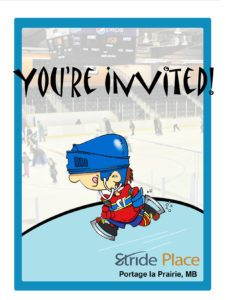 public skating party printable invitation - boy